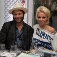 Rick Salomon et Pamela Anderson - Soirée Vanity Fair Armani à l'Eden Roc au cap d'Antibes le 17 mai 2014