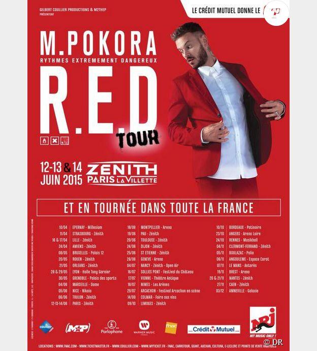 M. Pokora en tournée dans toute la France en 2015