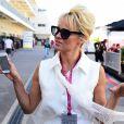 Pamela Anderson dans le paddock du Grand Prix des Etats-Unis à Austin, le 1er novembre 2014