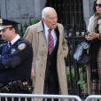 Leonard Lauder aux funérailles du créateur Oscar de la Renta, le 3 novembre 2014 à New York.