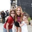 Julie Snyder et ses enfants Thomas et Romy, le 15 septembre 2014