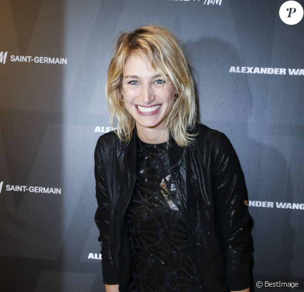 Pauline Lefèvre - Présentation de la collection Alexander Wang x H&M lors de la soirée d'inauguration du nouveau Flagship H&M St Germain à Paris le 4 novembre 2014.