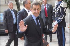 REPORTAGE PHOTOS : Nicolas Sarkozy, un anniversaire, le mariage de son fils ... mais quelle journée  !