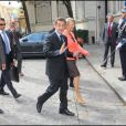 Nicolas Sarkozy arrive Place Beauvau