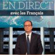 François Hollande sur le plateau de l'émission En direct avec les Français sur TF1 à Aubervilliers, le 6 novembre 2014