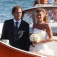 Mariage d'Ingrid Chauvin et Thierry Peythieu à Lège-Cap-Ferret, le 27 août 2011.