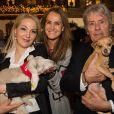 Kathrin Glock, Maggie Entenfellner, Alain Delon - Inauguration du marché de Noël à Salzbourg en Autriche le 11 novembre 2014.