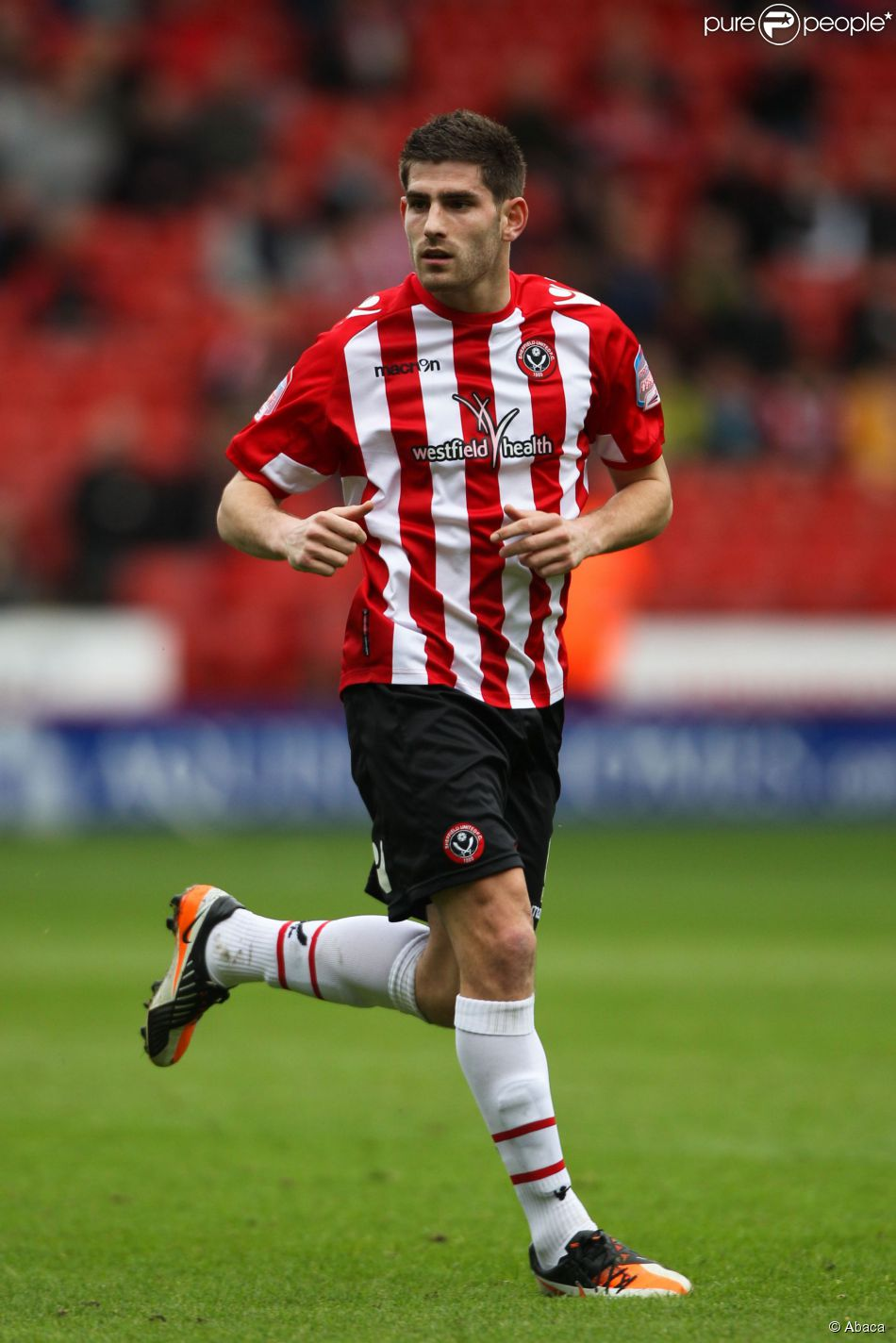 Ched Evans sous le maillot de Sheffield United, le 17 mars 2012