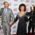 Sophia Loren et ses fils - Soirée hommage à Sophia Loren lors du AFI FEST à Hollywood, le 12 novembre 2014.