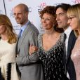 Sasha Alexander, Edoardo Ponti, Sophia Loren, Carlo Ponti et Andrea Meszaros Ponti lors du AFI FEST à Hollywood, le 12 novembre 2014.