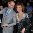 Edoardo Ponti & Sophia Loren lors du AFI FEST à Hollywood, le 12 novembre 2014.