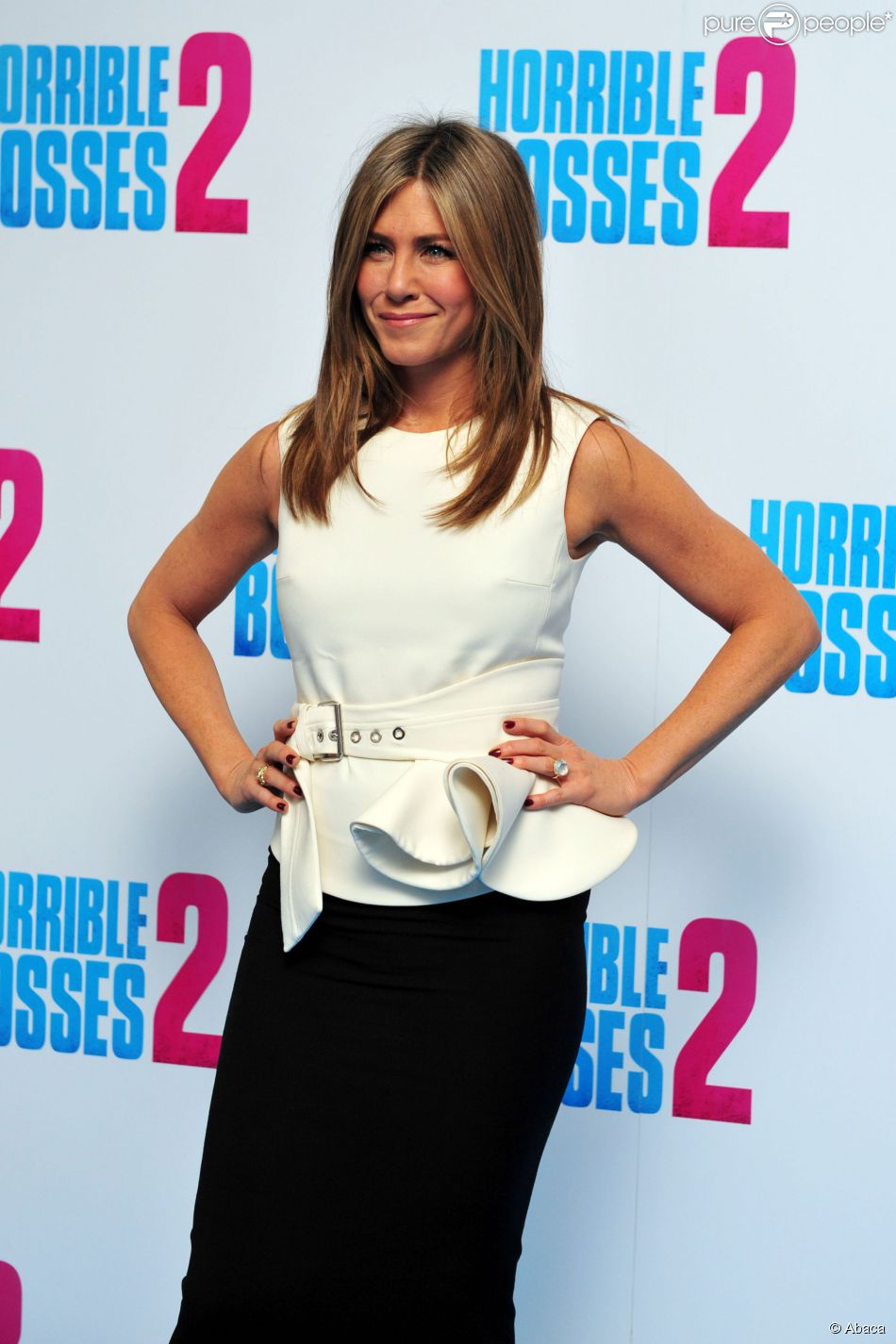 Jennifer Aniston au photocall du film Comment tuer son boss 2 au Corinthia Hotel à Londres le 13 novembre 2014.