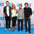 Jason Sudeikis, Jennifer Aniston, Charlie Day et Jason Bateman au photocall du film Comment tuer son boss 2 au Corinthia Hotel à Londres le 13 novembre 2014.