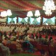 Image des convives au mariage du prince Moulay Rachid du Maroc et de Lalla Oum Keltoum (née Boufares) le 13 novembre 2014 au palais royal de Rabat.