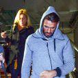 Thomas Vergara, qui est sorti de l'hôpital européen Georges-Pompidou mercredi midi, arrive avec sa mère et 2 amis vers 18 heures à la gare d'Aix-en-Provence le 12 novembre 2014.