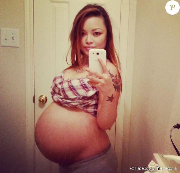 Tila Tequila, quelques jours avant son accouchement. Novembre 2014.
