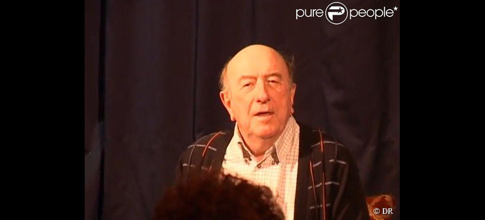 Fred Personne, acteur âgé de 81 ans, est mort lundi 17 novembre 2014. Photo (capture d'écran vidéo) datant de mai 2012.