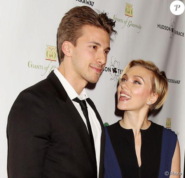 Hunter Johansson et Scarlett Johansson à New York le 18 novembre 2014.