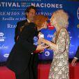 Cayetana Fitz-James Stuart, 18e duchesse d'Albe, lors des Solidarity Awards à Séville le 21 octobre 2013. La flamboyante aristocrate est morte le 20 novembre 2014 à l'âge de 88 ans.