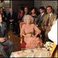 Cayetana Fitz-James Stuart, 18e duchesse d'Albe, lors de son mariage avec Alfonso Diez le 5 octobre 2011 au palais de las Dueñas, à Séville. La flamboyante aristocrate est morte le 20 novembre 2014 à l'âge de 88 ans.
