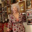 Cayetana Fitz-James Stuart, 18e duchesse d'Albe, à son domicile du palais de las Dueñas, à Séville, en juin 2013. La flamboyante aristocrate est morte le 20 novembre 2014 à l'âge de 88 ans.