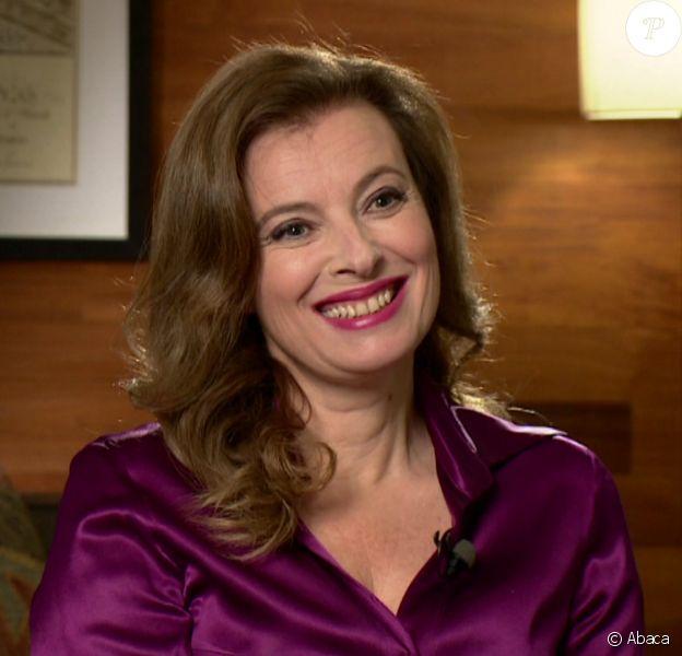 Valérie Trierweiler lors de son interview sur la BBC1 le 21 novembre 2014.