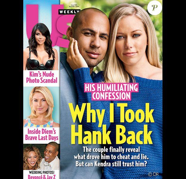 Kendra Wilkinson et son mari Hank Baskett en couverture du magazine Us Weekly daté du 1er décembre 2014.