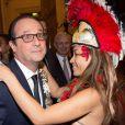 François Hollande à l'Hôtel de ville de Paris le 21 novembre 2014 pour le dîner annuel du CREFORM.