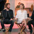 "Liam Hemsworth, Jennifer Lawrence - L'équipe du film ""Hunger Games"" à l'émission ""Good Morning America""à New York le 13 novembre 2014."