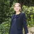 Rosamund Pike enceinte à Rome le 12 septembre 2014.