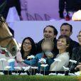 Marion Cotillard complice avec son fils Marcel au quatrième jour des Gucci Paris Masters 2014 à Villepinte le 7 décembre 2014