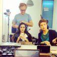 Leila, grande gagnante de Secret Story 8 a posté une photo d'elle en pleine séance maquillage avant un shooting pour la série Les mystères de l'amour. Novembre 2014.