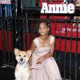 """Quvenzhane Wallis à la première du film """"Annie'"""" à New York, le 7 décembre 2014."""