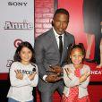 """Jamie Foxx et sa fille Annalise à la première du film """"Annie'"""" à New York, le 7 décembre 2014."""
