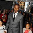"""Jamie Foxx et sa fille à la première du film """"Annie"""" à New York, le 7 décembre 2014."""