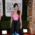 Sandra Bullock porte une robe Prabal Gurung (pré-collection automne 2014) lors des 71e Golden Globes à Beverly Hills. Le 12 janvier 2014.