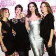 """Emilie Caen, Frédérique Bel, Elodie Fontan, Julia Piaton lors de la soirée """"Qu'est-ce qu'on a fait au bon Dieu"""" au Showcase, Paris, le 8 décembre 2014."""