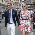 Pierre Casiraghi et sa compagne Beatrice Borromeo - Grand Prix de Formule 1 de Monaco le 25 mai 2014.
