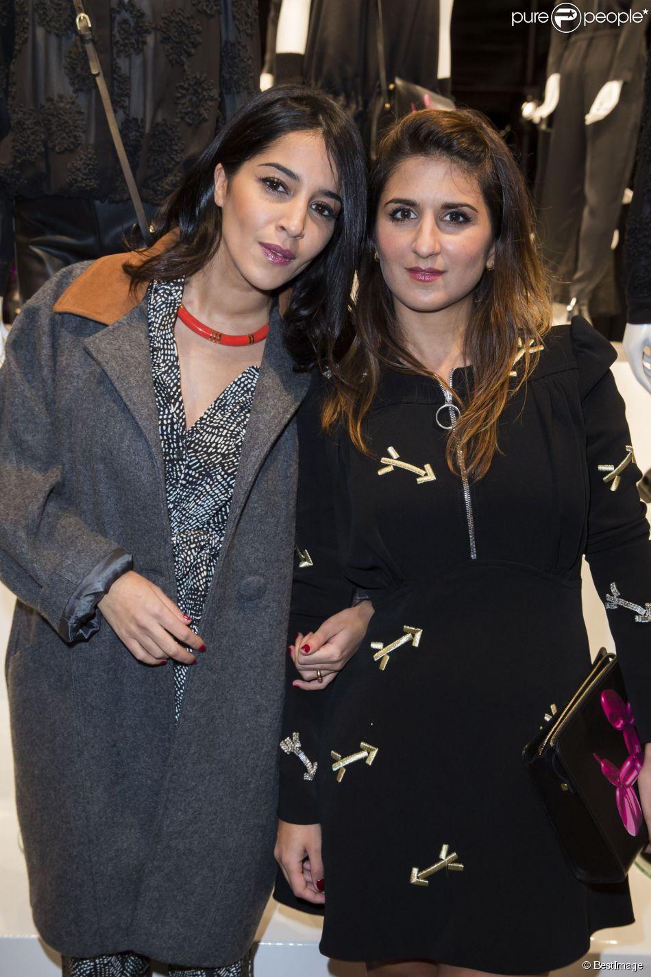 """Leïla Bekhti et Géraldine Nakache - Présentation du sac """"Balloon Dog"""" de Jeff Koons pour H&M au centre Pompidou à Paris le 9 décembre 2014."""