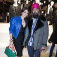 """Sébastien Tellier et sa femme Amandine de la Richardière - Présentation du sac """"Balloon Dog"""" de Jeff Koons pour H&M au centre Pompidou à Paris le 9 décembre 2014."""