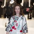 """Audrey Marnay - Présentation du sac """"Balloon Dog"""" de Jeff Koons pour H&M au centre Pompidou à Paris le 9 décembre 2014."""