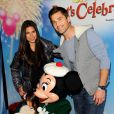 """Roselyn Sanchez avec son mari et sa fille - Spectacle Disney On Ice Let's Celebrate ! à Los Angeles, le 11 décembre 2014"""
