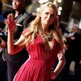Paris Hilton, sur le tapis rouge de la 16e édition des NRJ Music Awards à Cannes, le samedi 13 décembre 2014.