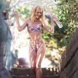 Kat Torres en shooting pour 138 Water à Malibu, le 11 décembre 2014.