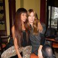 """Mia Frye et Mareva Galanter présentent le programme """"Talent Street"""" diffusé sur France Ô, au café Bataclan à Paris le 17 décembre 2014."""