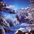 Un matin eneigé à Gstaad, décembre 2014.