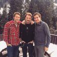 Emmanuel Philibert de Savoie, Johnny Hallyday et Pierre Rambaldi à Gstaad, décembre 2014.