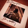 Johnny Hallyday a offert son album dédicacé à Emmanuel Philibert de Savoie à Gstaad, décembre 2014.