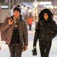 Laeticia Hallyday et Pierre Rambaldi - Shopping à Gstaad, le 27 décembre 2014.