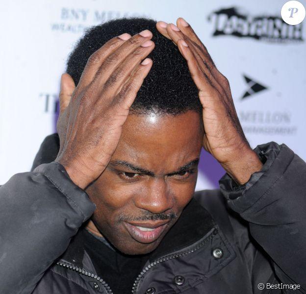"Chris Rock a la soiree ""Celebrity Charades"" a New York. Le 14 janvier 2013"